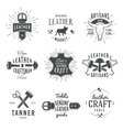Second set of grey vintage craftsman logo vector image vector image