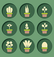 Set Of Pot Plants Symbol vector image