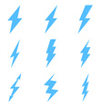 Set of Thunder Lighting Icons vector image