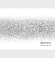 sparkling glitter border isolated on white silver vector image vector image