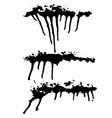 spray drips banners set grunge hand drawn vector image