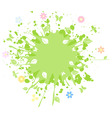 spring abstraction vector image