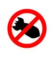 stop bombing bomb is forbidden ban air torpedo vector image
