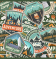 summer camp colorful seamless pattern with rv vector image vector image