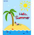 summer time its time to rest vector image vector image