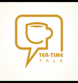 Tea-time chat concept stock vector image vector image