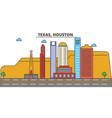 texas houstoncity skyline architecture vector image vector image