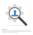 web cam icon search glass with gear symbol icon vector image