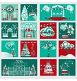 Winter Gardening and Landscape Decoration Set vector image vector image