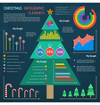 xmas infographic 1 vector image vector image