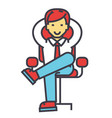 young businessman relaxing boss successful vector image vector image