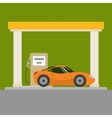 Car at the gas station vector image