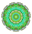 ornate eastern mandala colorful ornament vector image