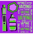 electronic cigarette with liquid and cloud vaping vector image