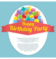 Happy Birthday Party Card vector image