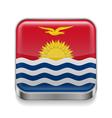 Metal icon of Kiribati vector image