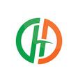 circle h company concept logo image vector image