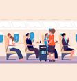 airline service human transportation stewardess vector image