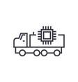 autonomous car linear icon sign symbol vector image vector image
