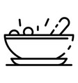 baby food bowl icon outline style vector image vector image