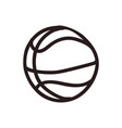 basketball doodle cartoon vector image