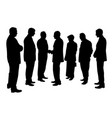 business people group at a meeting shaking hands vector image