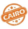 Cairo round stamp vector image