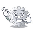 call me gear icon cartoon the design best vector image