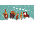 Cartoon Christmas train vector image