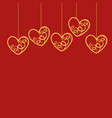 cartoon of happy valentines day card typography vector image