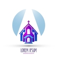church logo design template religion or temple vector image vector image