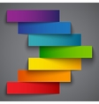 Colorful rainbow paper stripe banners arrow on vector image vector image