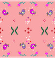 cute little bird seamless pattern with flower on vector image vector image