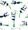 cute panda seamless pattern print design vector image vector image