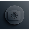 dark circle icon Eps10 vector image vector image