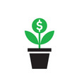 dollar plant sprout growth - concept icon design vector image