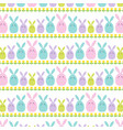 easter bunny and tulip stripe vector image vector image