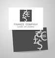 financial company dollar euro sign logo vector image