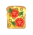 flat icon of appetizing sandwich with vector image vector image