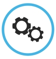 Gears Flat Rounded Icon vector image vector image