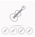 Guitar icon Musical instrument sign vector image vector image
