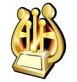 Harp Gold award statuette vector image vector image