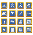 independence day flag icons set blue vector image vector image