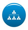 leadership icon blue vector image vector image