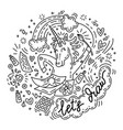 lets draw unicorn vector image vector image