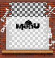menu food and drink template vector image