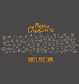 merry christmas holiday lettering greeting card vector image vector image
