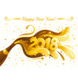 new year 2018 banner with sparkling vector image