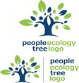 people ecology tree logo 2 vector image vector image
