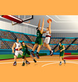 people playing basketball in the competition vector image